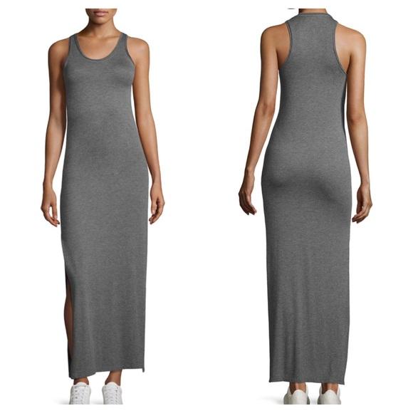 THEORY Soft Jersey Maxi Side Slit Long Tank Dress 680aff72e